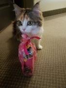 Kalea with her goody bag